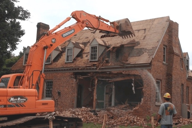 THE OLD HOUSE IS TORN DOWN