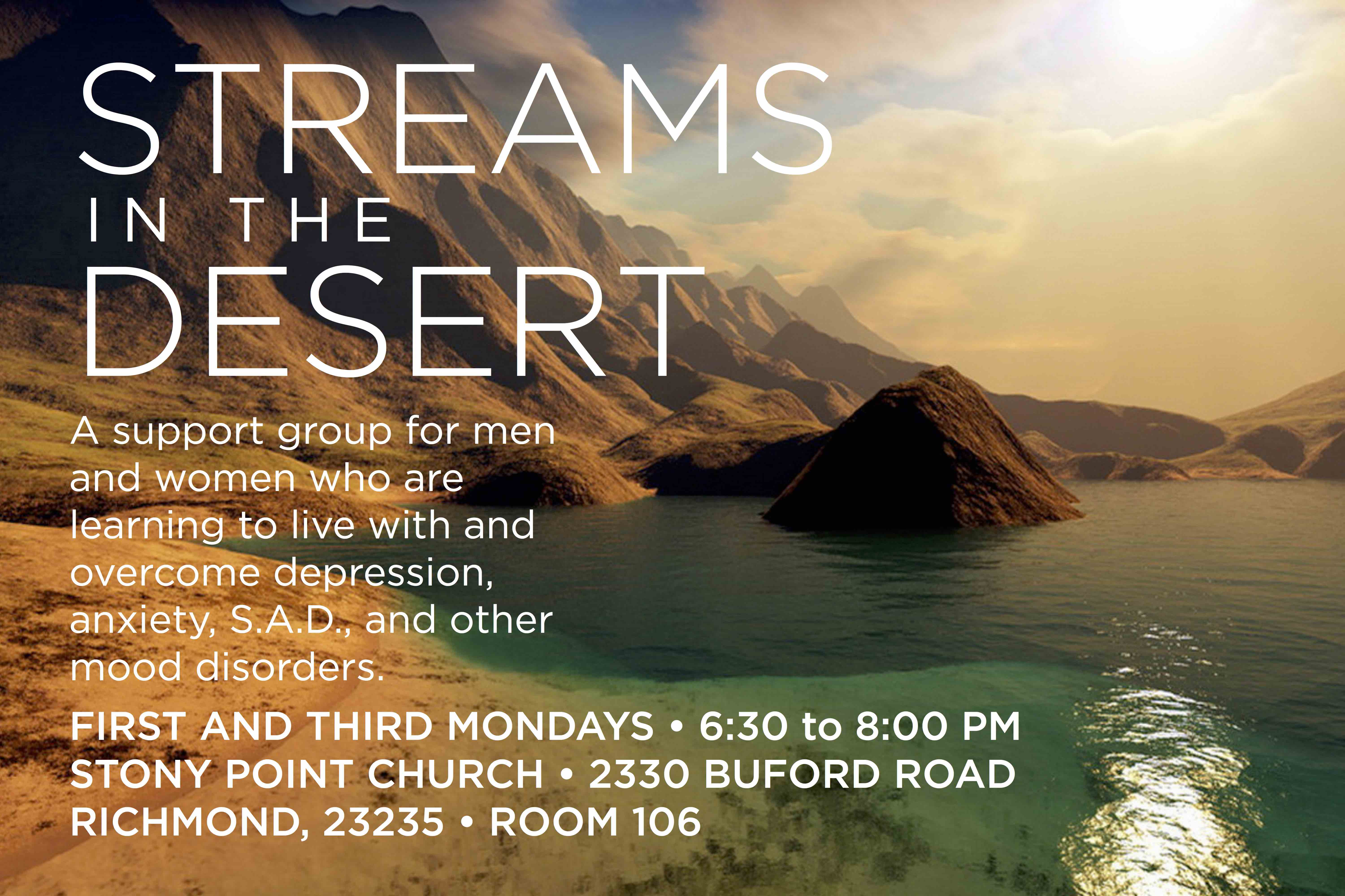 STEAMS IN THE DESERT SUPPORT GROUP BEGINS